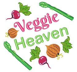 Veggie Heaven embroidery design