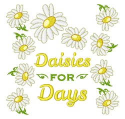 Daisies For Days embroidery design