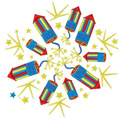 Fireworks embroidery design