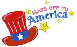 Fourth Hat Hats Off To America embroidery design