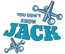 Jacks You Don t Know JACK embroidery design