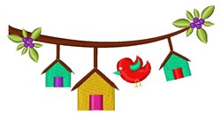 Bird Houses embroidery design
