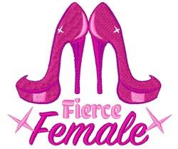 Pink Heels Fierce Female embroidery design