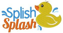 Rubber Duck Splish Splash embroidery design
