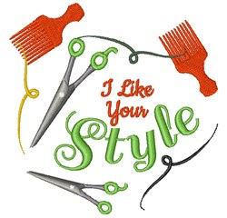 Stylist I Like Your Style embroidery design