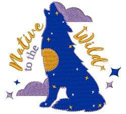 Wolf Native To The Wild embroidery design