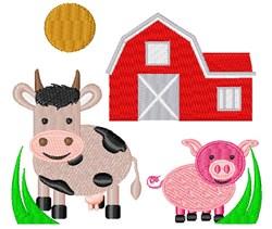Farm embroidery design