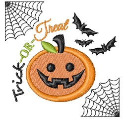 Halloween Trick Or Treat embroidery design