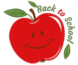 Apple Back To School embroidery design