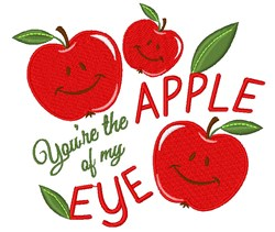 Apple You re The Apple Of My Eye embroidery design