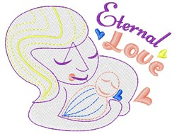 Mom Eternal Love embroidery design