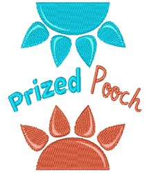 Paw Prints Prized Pooch embroidery design