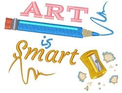 Pencil Sharpener Art Is Smart embroidery design