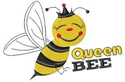Bee Queen Bee embroidery design