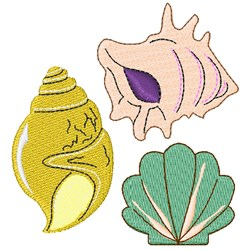 Shells embroidery design