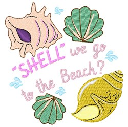 Shell We Go To The Beach embroidery design