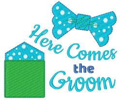 Here Comes The Grrom embroidery design