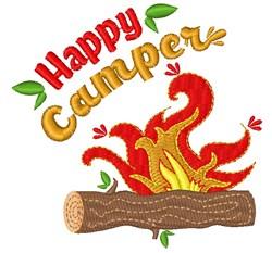 Campfire Happy Camper embroidery design