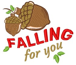 Acorn Falling For You embroidery design