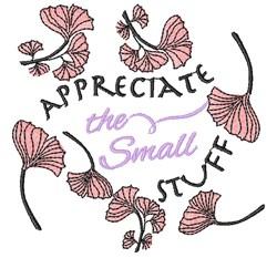 Ginkgo Leaves Appreciate the Small Stuff embroidery design