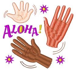 Good Bye Aloha embroidery design