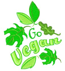 Go Vegan embroidery design