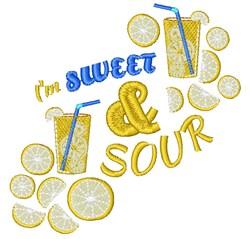 Lemonade I m Sweet & Sour embroidery design