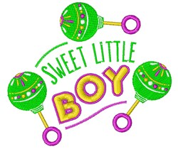 Sweet Little Boy embroidery design