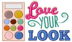Love Your Look embroidery design