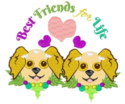 Dog Best Friends For Life embroidery design