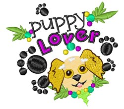 Puppy Lover embroidery design