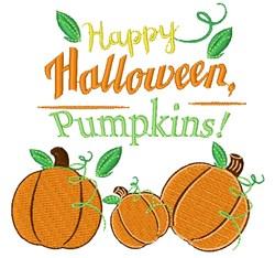 Happy Halloween Pumpkins embroidery design