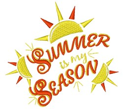 Summer Is My Season embroidery design