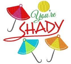 Umbrellas You re Shady embroidery design
