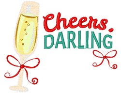 Champagne Cheers Darling embroidery design