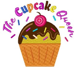The Cupcake Queen embroidery design