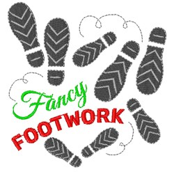 Footprints Fancy Footwork embroidery design