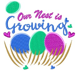 Our Nest Is Growing embroidery design