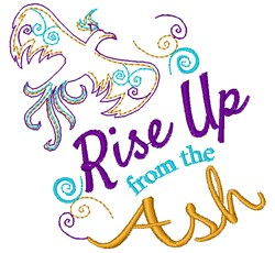 Rise Up From The Ash embroidery design