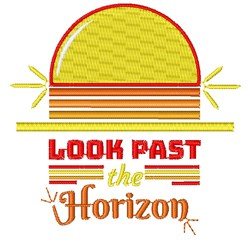 Look Past The Horizon embroidery design