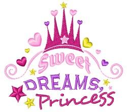 Sweet Dreams Princess embroidery design