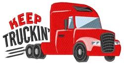 Keep Truckin embroidery design