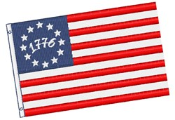 Betsy Ross Flag 1776 embroidery design