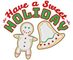 Have A Sweet Holiday embroidery design