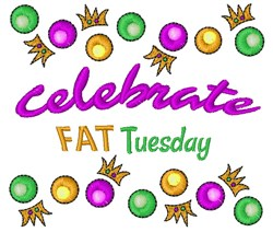 Celebrate Fat Tuesday embroidery design