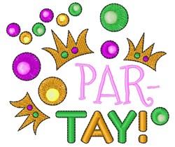 Mardi Gras Par Tay embroidery design