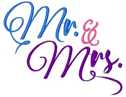 Mr. & Mrs. embroidery design