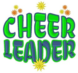 Cheer Leader embroidery design