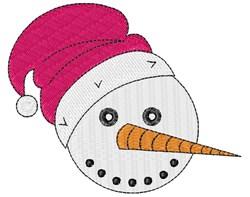 Snowman Santa embroidery design