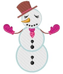 Snow Woman embroidery design